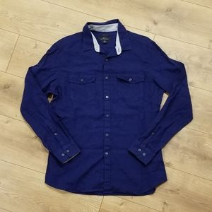 Marc Anthony Slim Fit Button Down Navy NWT {Med}
